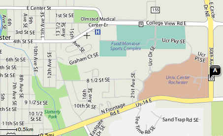 Rochester Campus Map.Frozen Goose Map